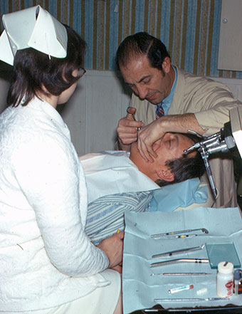 DGW dentist, Dr. Ray Otto at work in 1970