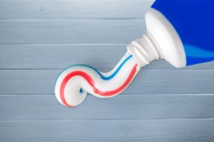 A tube of toothpaste.